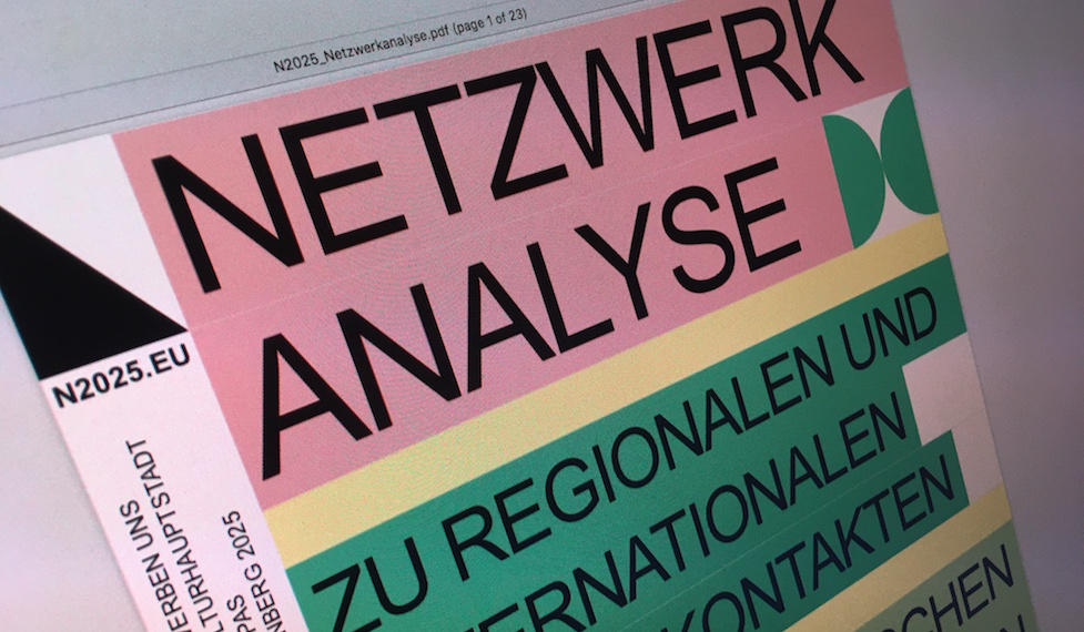 Symbolbild Netzwerkanalyse der Kulturkontakte (Kulturakteure)