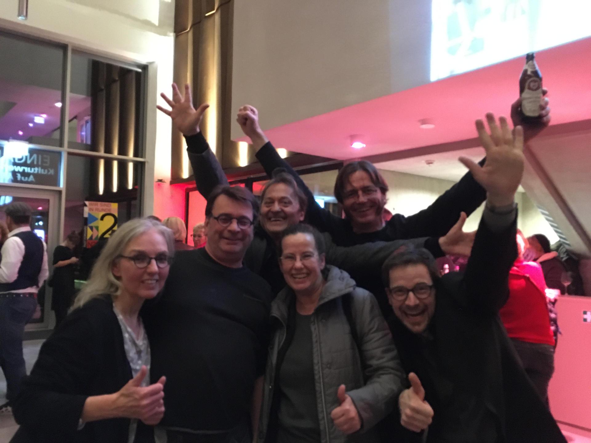 Vertreter der Kulturhauptstadt-Initiative #NUE2025 auf der Feier der Stadt auf AEG am 12.12.2019